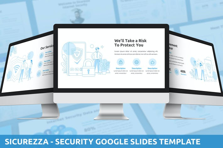 Thumbnail for Sicurezza - Security Google Slides Template
