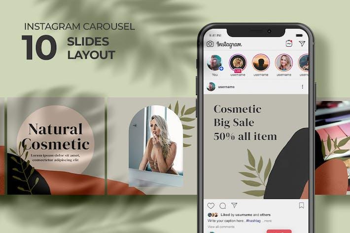 Cosmétique Naturel - Instagram Carrousel
