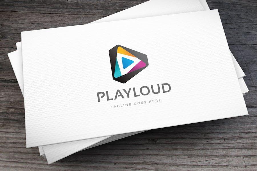 Play Loud Logo Template