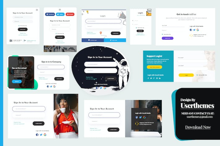 Thumbnail for Login & Registration Popup Forms Design Template