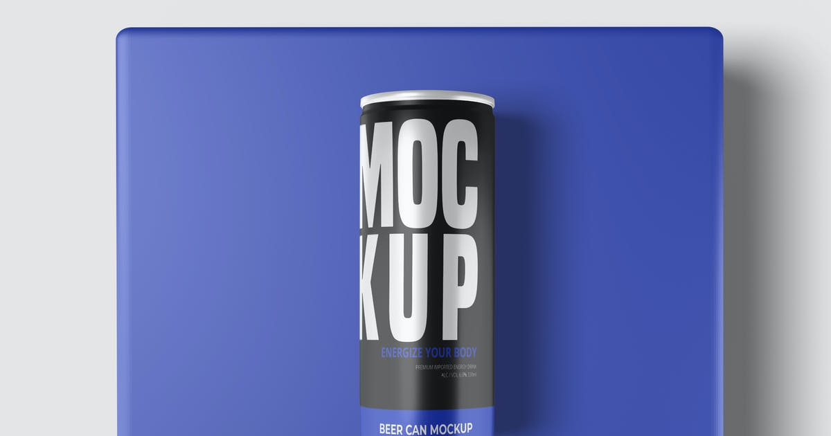 Download Beer Can Mockup V2 by IanMikraz