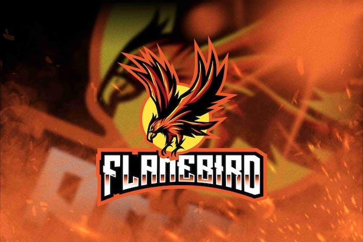 Flame Bird Esport Logo Template