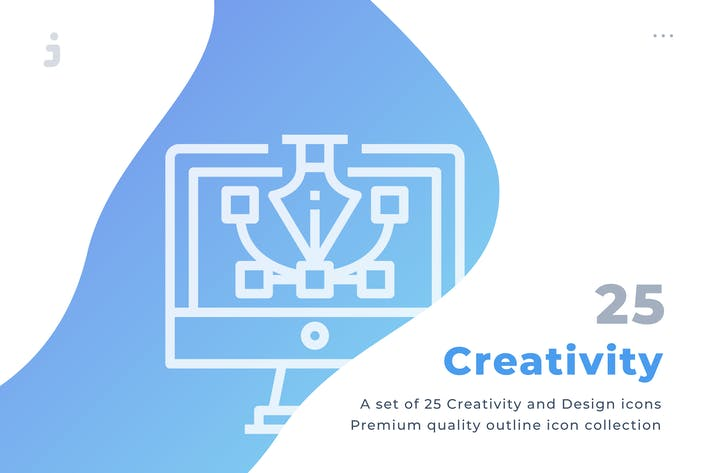 Thumbnail for 25 Creativity and Design icon set