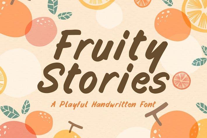 Historias afrutadas - Fuente escrita a mano juguetona