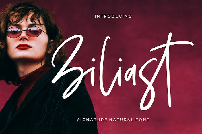 Thumbnail for Ziliast Signature Natural Font