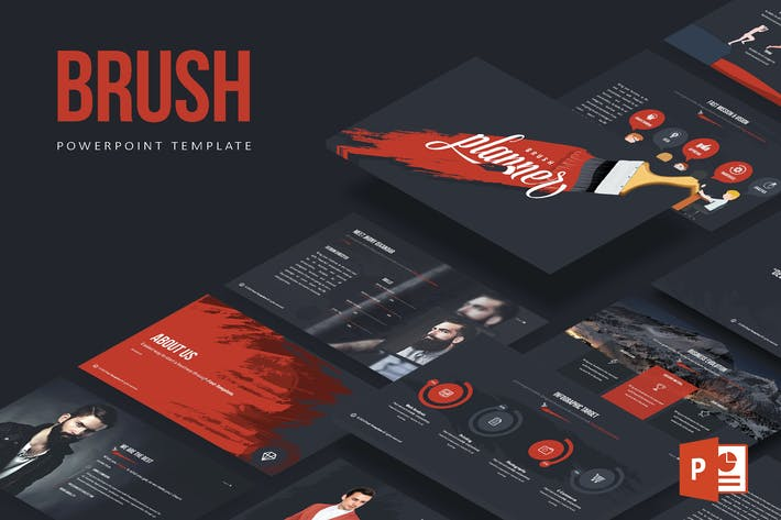 Thumbnail for Brush Powerpoint Template