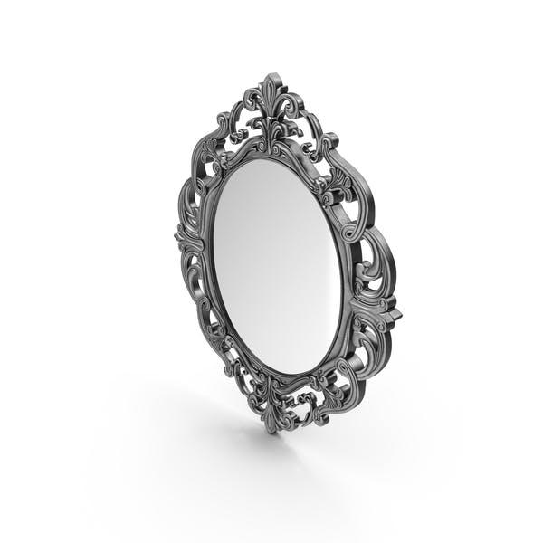 Провинциальное овальное резное зеркало
