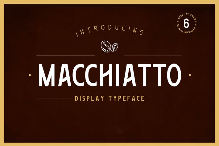Thumbnail for Macchiato - Display Font