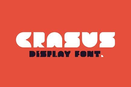 Crasus - Modern & Bold Display Font