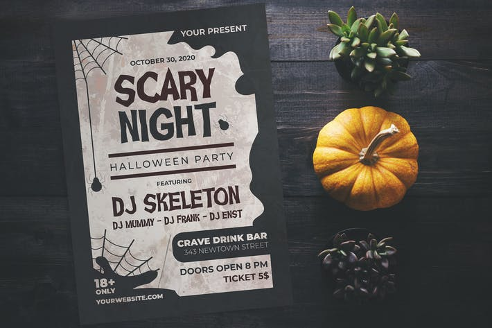 Thumbnail for Scary Night Party Flyer