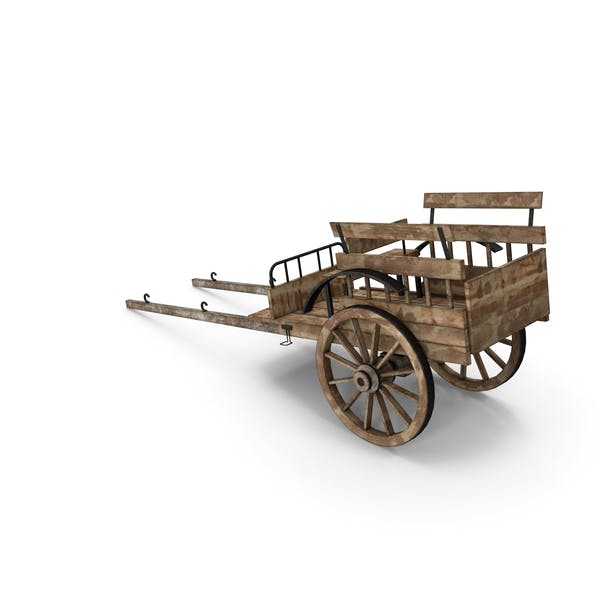 Thumbnail for Old Wooden Cart
