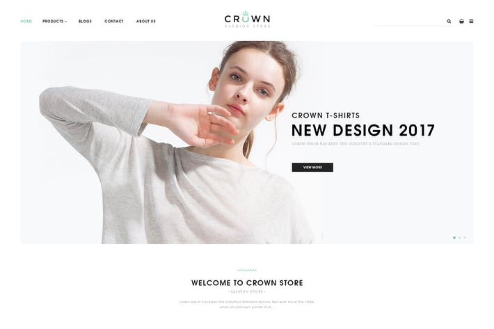 Thumbnail for Crown - Fashion Ecommerce PSD Templates