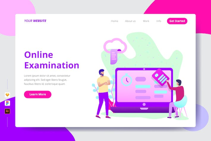 Cover Image For Online Examination - Landing Page