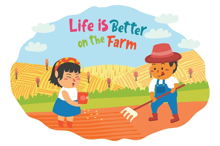 Thumbnail for Farmers - Vector Illustration