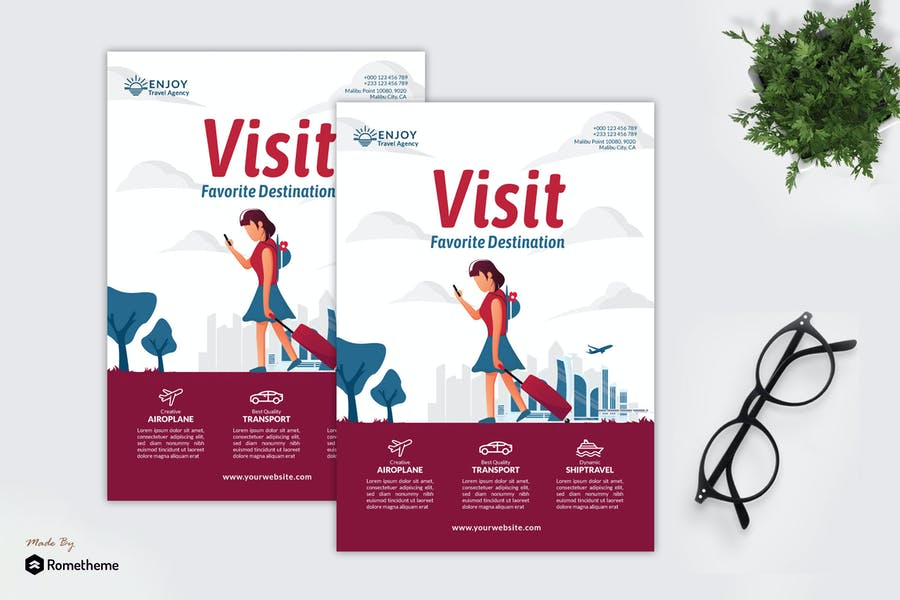 Enjoy Travel Agency - Creative Flyer Vol.02 GR