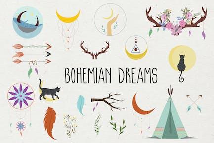 Bohemian Dreams Hand Drawn