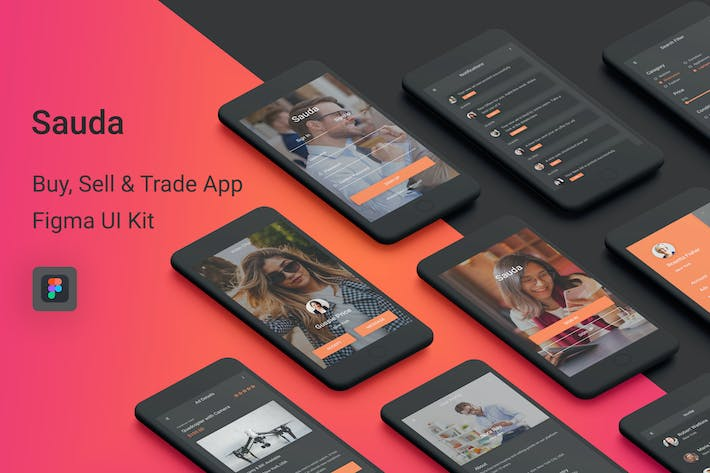 Thumbnail for Sauda - Buy, Sell & Trade UI Kit for Figma