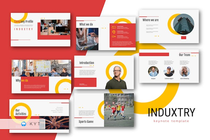 Thumbnail for INDUXTRY - Company Profile Keynote Template