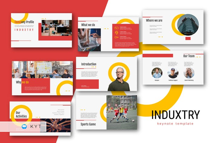 Thumbnail for INDUXTRY - Шаблон Keynote профиля компании