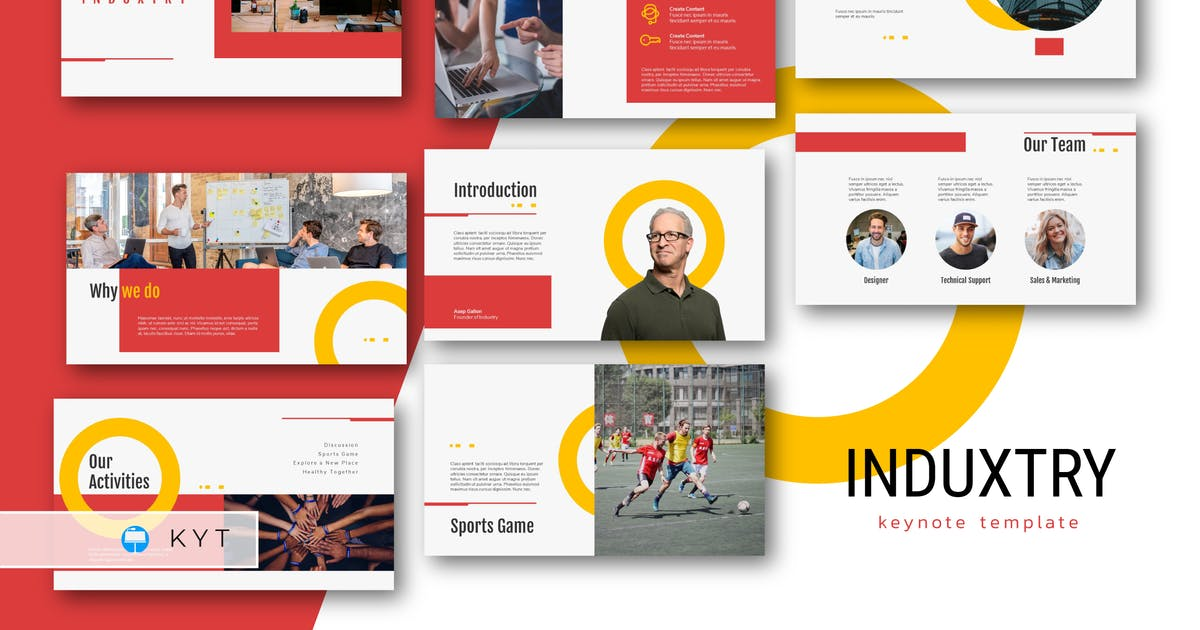 Download INDUXTRY - Company Profile Keynote Template by inipagi