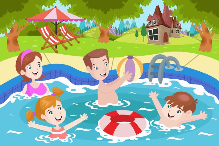 Thumbnail for Swimming With Family - Activity Illustration
