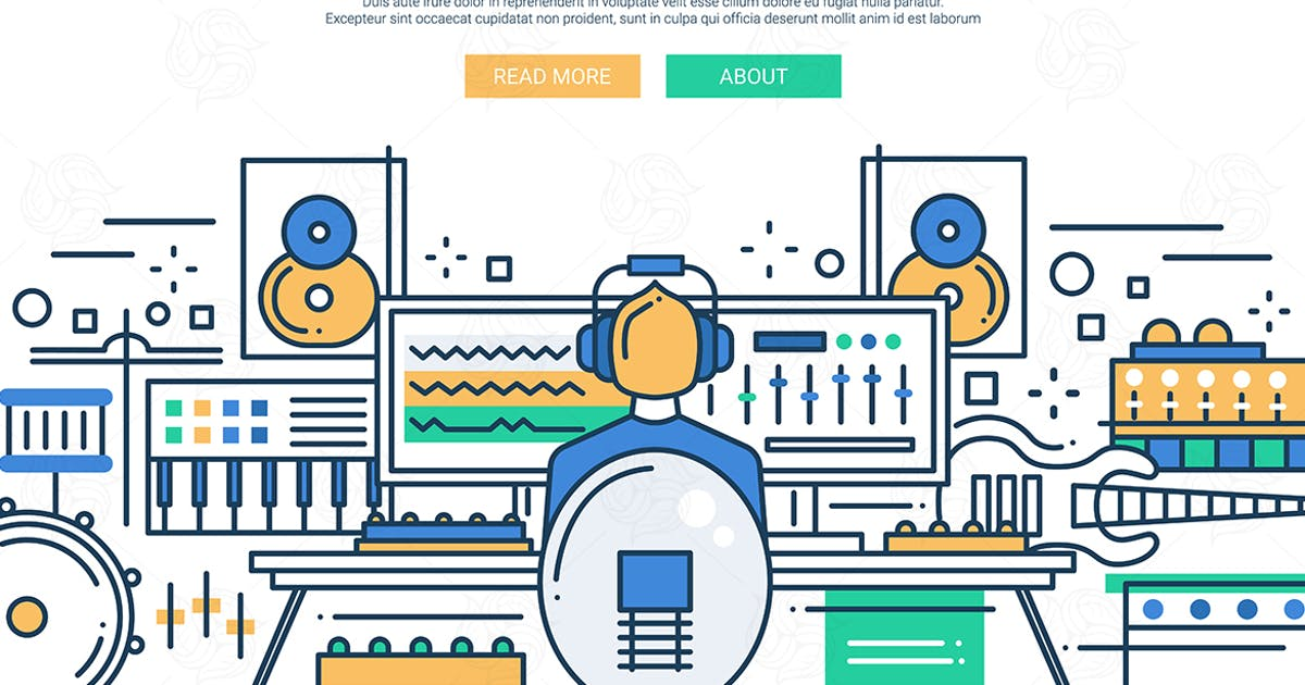 Sound Production - website header banner template by BoykoPictures