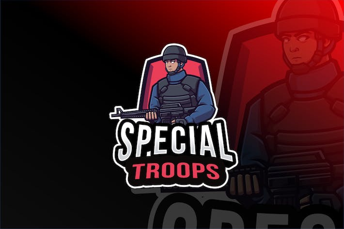 Special Troops Logo Template