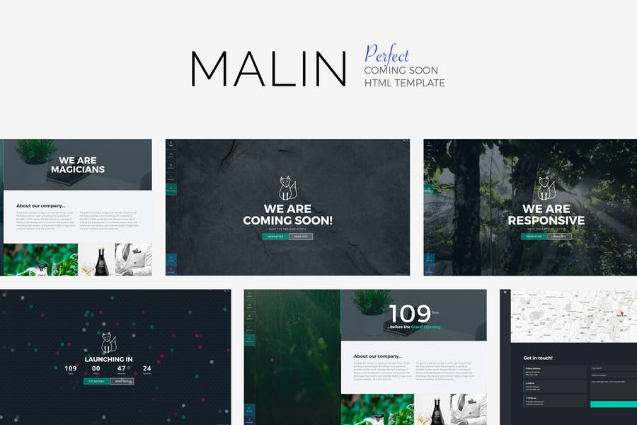 MALIN - Perfect Coming Soon Template