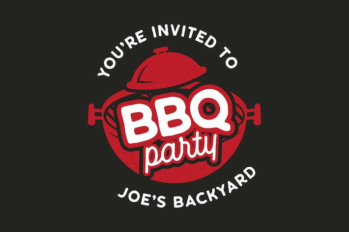 Thumbnail for BBQ Party Logo Design TShirt. Retro Vector SVG