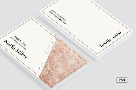 Bronze & Polka Dots Business Card