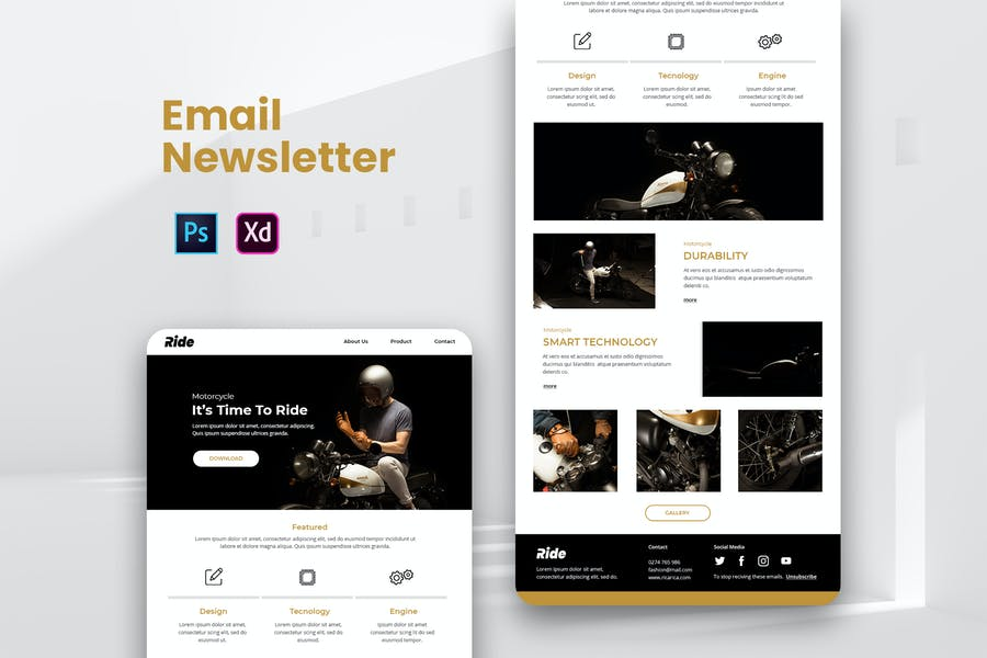Ride Email Newsletter