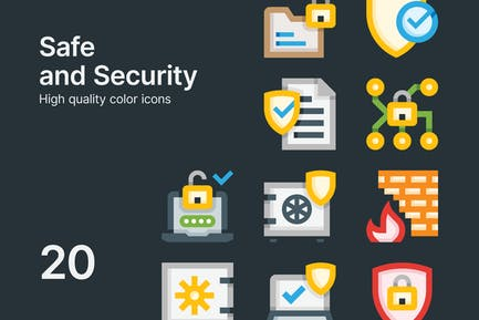 Safe and Security Icons