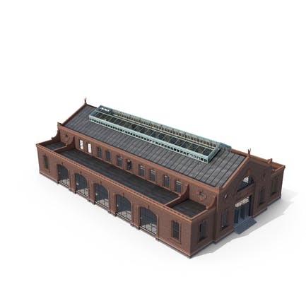 Antigua Edificio Industrial Modular Interior y Exterior