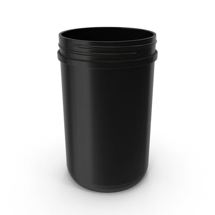 Tarro de plástico de boca ancha de 150 ml.