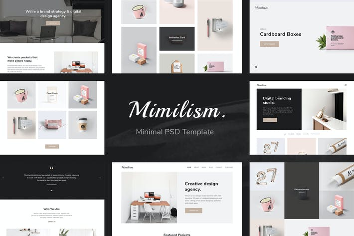 Thumbnail for Mimilism - Clean & Minimal Portfolio PSD Template