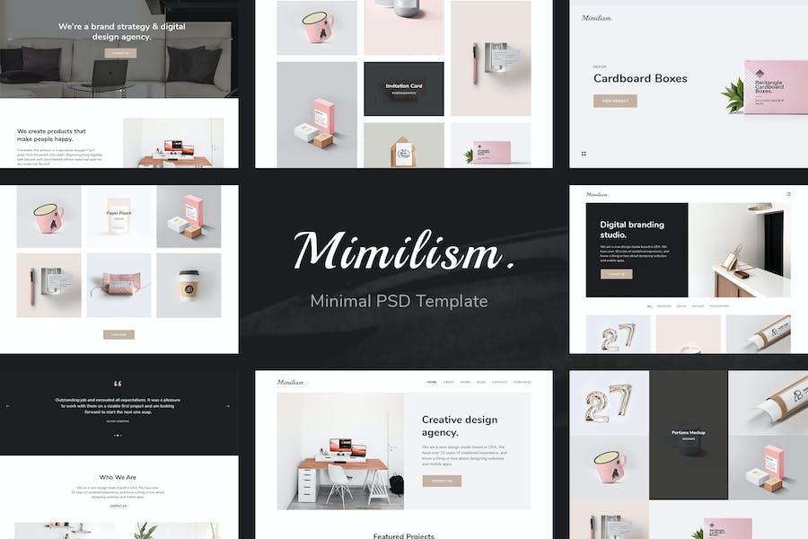 Mimilism - Clean & Minimal Portfolio PSD Template
