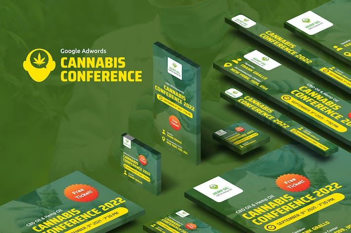 Thumbnail for Cannabis Conference Banners Ad