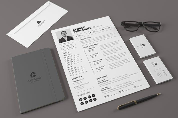 Thumbnail for Minimal Resume Template v.4