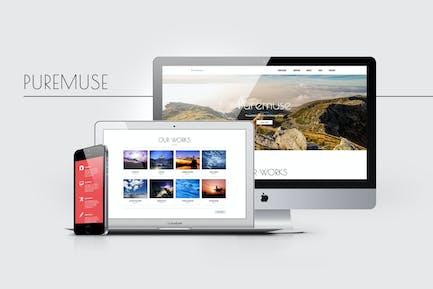Puremuse - Plantilla Clean Muse para Portafolios