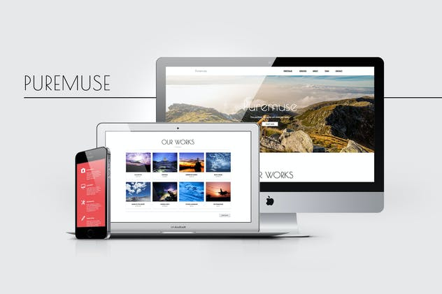 Puremuse - Clean Muse Template for Portfolios - product preview 3
