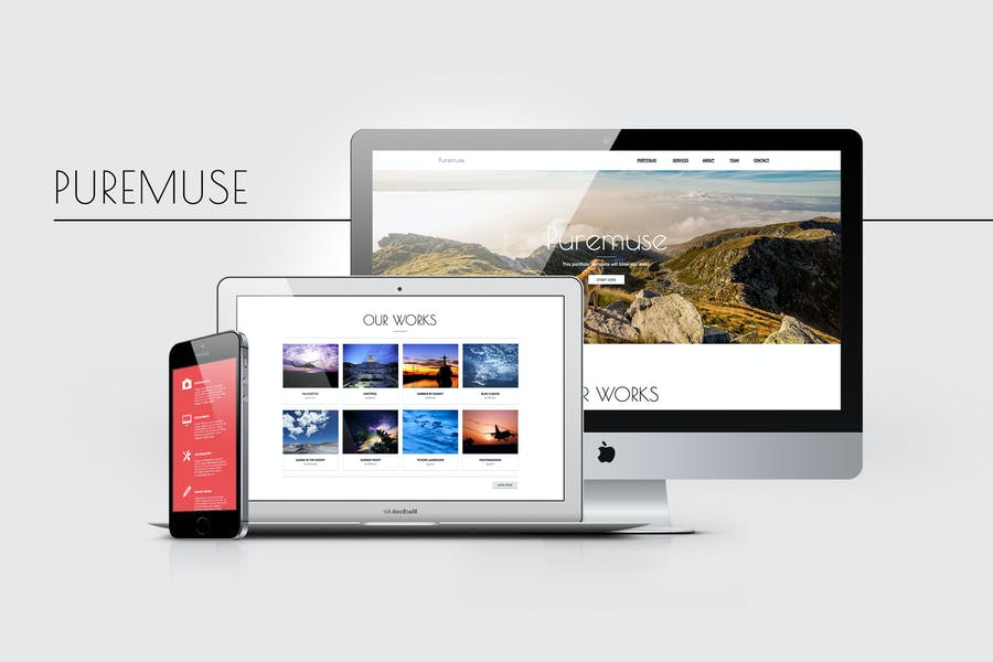 Puremuse - Clean Muse Template for Portfolios