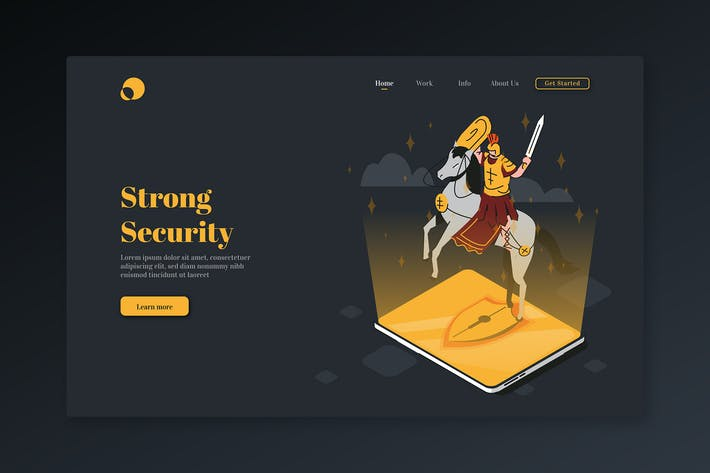 Thumbnail for Strong Security - Isometric Landing Page