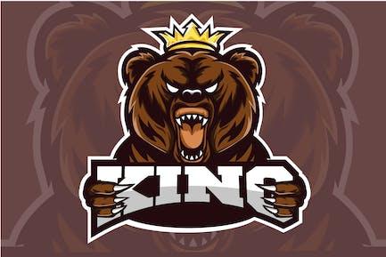Bear King - Esport Logo