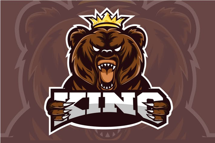 Thumbnail for Bear King - Esport Logo