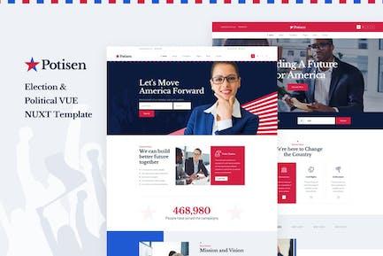 Potisen - Election & Political Vue Nuxt Template