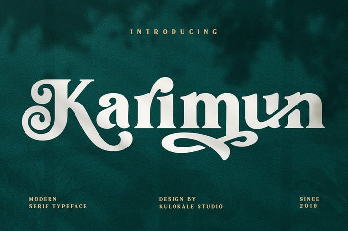 Thumbnail for Karimun - Fonte Serif Moderna