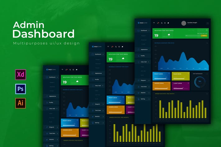 Thumbnail for SaleAdmin Dashboard | Admin Template