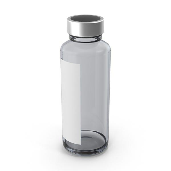 Фармацевтическая бутылка с наклейкой