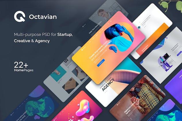 Octavian - Multipurpose Creative PSD Template