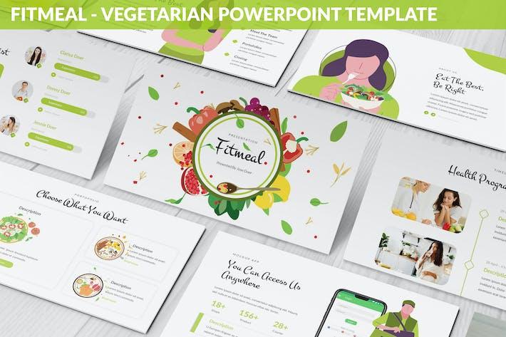 Fitmeal - Вегетарианский Шаблон Powerpoint